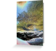 beyond the scarred and barren shores Greeting Card