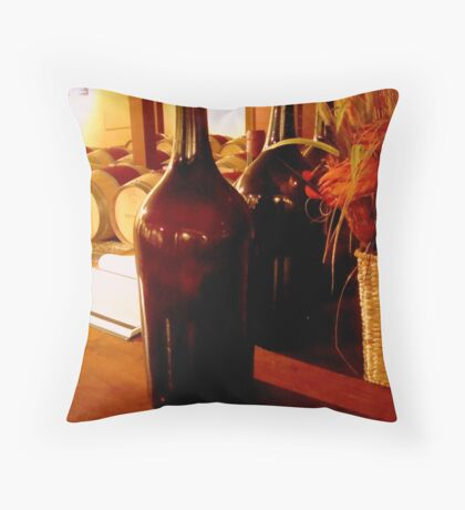 Winery Still Life - Barboursville Vineyards Throw Pillow