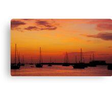 Ibiza Sunset III Canvas Print