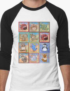 Baby animals 2 Men's Baseball ¾ T-Shirt