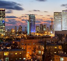 Skyline of Tel-Aviv, Israel by Yair Karelic