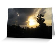 Sunrise and Storm Clouds Greeting Card