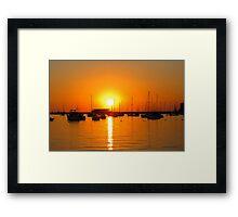 Ibiza Sunset V Framed Print