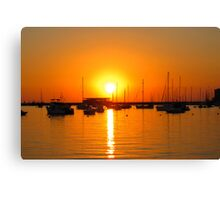 Ibiza Sunset V Canvas Print