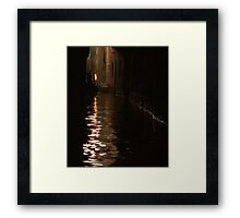 The night boatman Framed Print