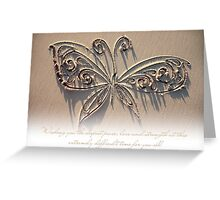 Peace, Love and Strength (Card for a gravely ill baby or child) Greeting Card