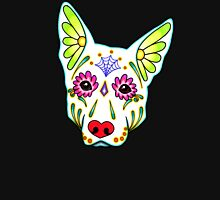 Day of the Dead German Shepherd in White Sugar Skull Dog T-Shirt