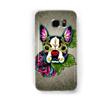 Day of the Dead Boston Terrier Sugar Skull Dog Samsung Galaxy Case/Skin