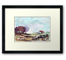 A farmer's cottage Framed Print
