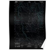 USGS Topo Map Oregon Buck Butte 20110808 TM Inverted Poster