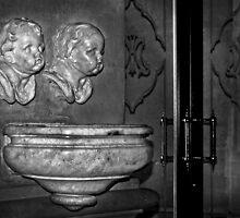 Mono Angels ----- Holy Water Font Mgarr Parish Malta by Edwin  Catania
