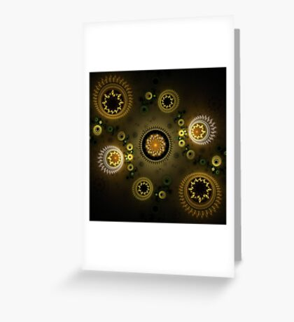 Gold Sovereigns Greeting Card