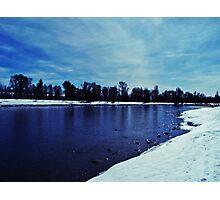 Cold Riverfront Photographic Print