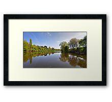 River Severn at Upton on Severn, Worcestershire, UK Framed Print