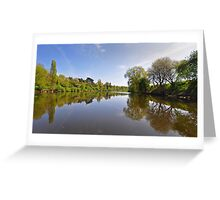 River Severn at Upton on Severn, Worcestershire, UK Greeting Card