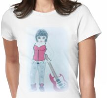 Ruby Rocker large design Womens Fitted T-Shirt