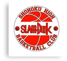 Shohoku High Basketball Club Logo Canvas Print