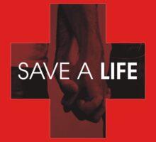 SAVE A LIFE LOGO LONG-SLEEVE SHIRT by DeniedSeries