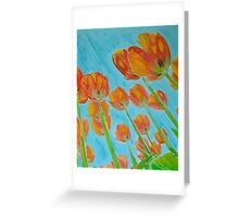 Tulips - Reaching for the sky Greeting Card