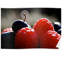 raspberries and blueberries... Poster