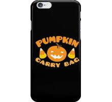 Pumpkin carry bag with candy corn for Halloween iPhone Case/Skin
