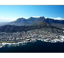 Aerial View over Cape Town, South Africa Photographic Print