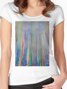 Water venting through Volcanic Minerals Women's Fitted Scoop T-Shirt