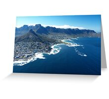 Aerial View over Cape Town, South Africa Greeting Card