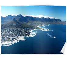 Aerial View over Cape Town, South Africa Poster