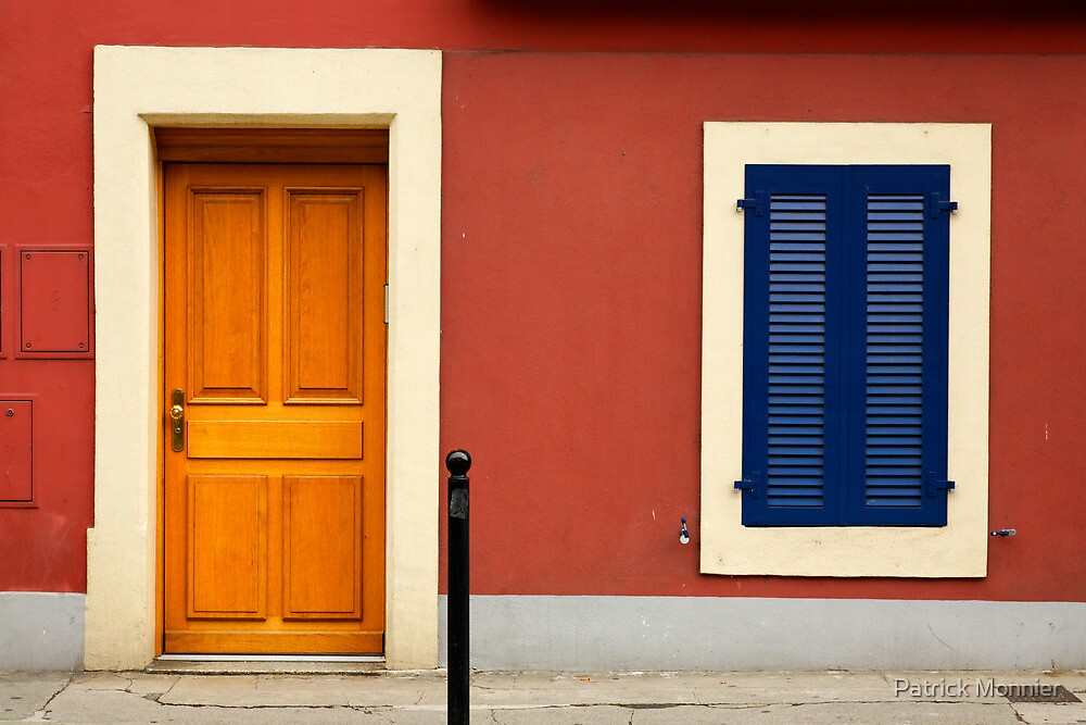 blue shutters by Patrick Monnier