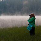 Woman Birdwatching by ArianaMurphy