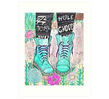 Punk Boots Art Print