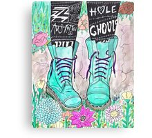 Punk Boots Canvas Print