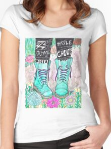 Punk Boots Women's Fitted Scoop T-Shirt