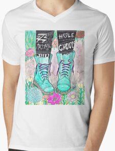 Punk Boots Mens V-Neck T-Shirt