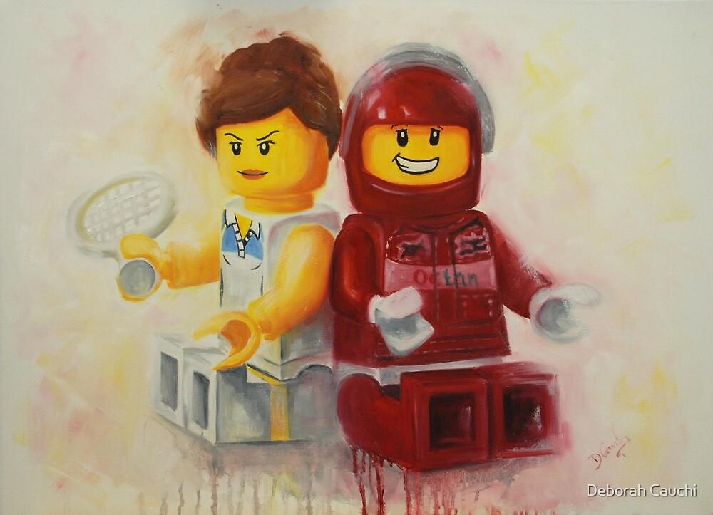 Lego figures, game, set & match by Deborah Cauchi