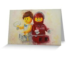 Lego figures, game, set & match Greeting Card