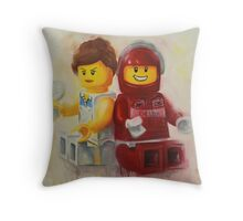 Lego figures, game, set & match Throw Pillow