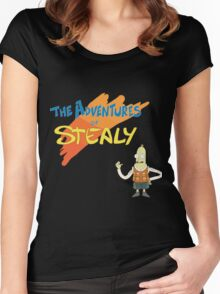 Rick and Morty: The Adventures of Stealy w/Stealy Women's Fitted Scoop T-Shirt