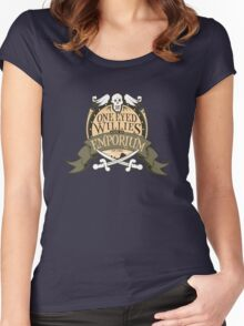 One Eyed Willie's Gold Emporium Women's Fitted Scoop T-Shirt