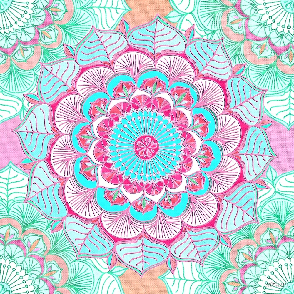 Tropical Doodle Flower by micklyn