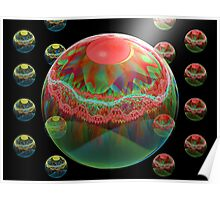 Crimson and Clover: a 3D Julian Composition Poster