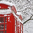 Telephone Boxes In The Snow by Nick  Gill