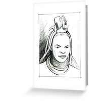 Rostro X Greeting Card