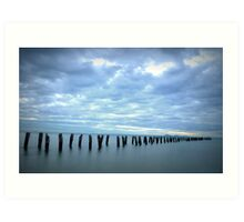 Old jetty, Clifton Springs  Art Print
