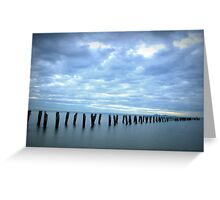Old jetty, Clifton Springs  Greeting Card