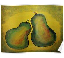 Pears #2. watercolor Poster