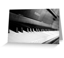 Black and White Piano Greeting Card