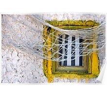 Sète - Yellow window and fishing net. Poster