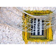 Sète - Yellow window and fishing net. Photographic Print